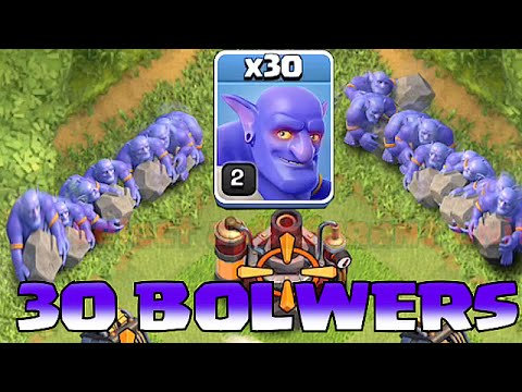 "Clash Of Clans - ALL BOWLERS MASS ATTACK!! ""NEW TROOP UPDATE"""