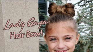 Lady Gaga Hair Bow | Updos | Cute Girls Hairstyles