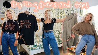 7 WAYS TO TUCK IN YOUR OVERSIZED TOPS | styling thrifted oversized tees, sweaters, & sweatshirts