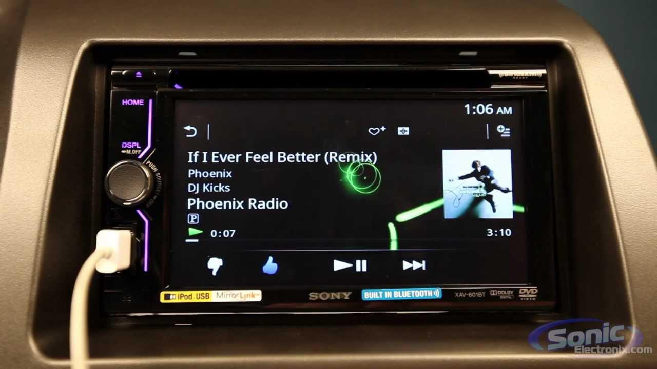 Car Sound Equalizer >> Sony XAV-601BT Car Stereo w/ Pandora & MirrorLink - YouTube