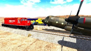 Beamng drive | Trains Against Airplanes