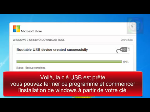 Installer windows 7 ou 8 via clé usb
