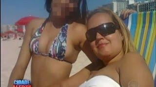 Crueldade da filha na praia