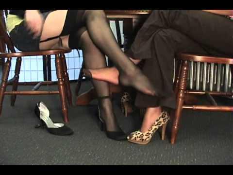 Footsie Nylon Under Table video