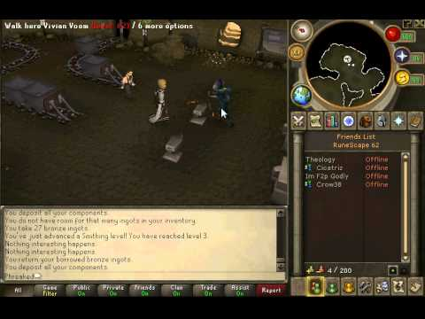 Runescape Guide – Artisians Workshop – FREE Smithing Exp – F2P/P2P – P2P 300K+ XP/HR