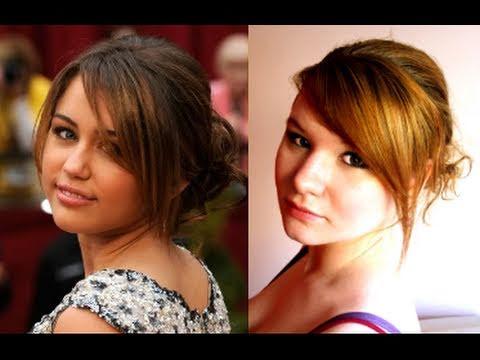 ♫ MILEY CYRUS OSCARS HAIR TUTORIAL/ CUTE GIRLY UPDO BY STYLIZACJE ♫
