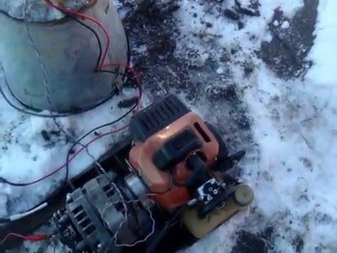 синхронный генератор и моторчик от бензокосы на tubethe.com