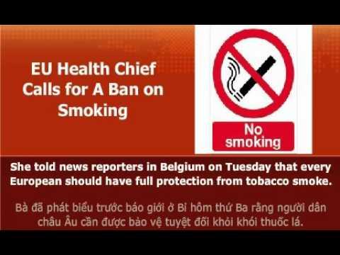EU Health Chief Calls for a Ban on Smoking
