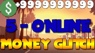 "GTA 5 Online: Money Glitch *SOLO* ""UNLIMITED TOP 5 MONEY GLITCHES AFTER ALL PATCHES 2015"" Text Tut"
