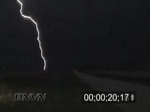 4/16/2004 Lightning Video. Lightning footage from northern Iowa at night