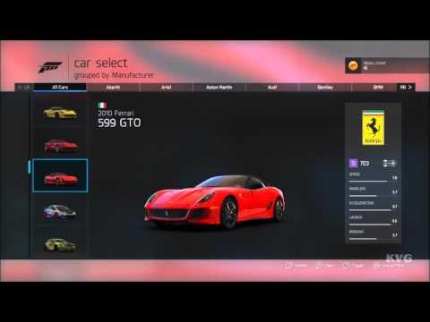 Forza Motorsport 6: Apex - All Cars   List (HD) [1080p60FPS]