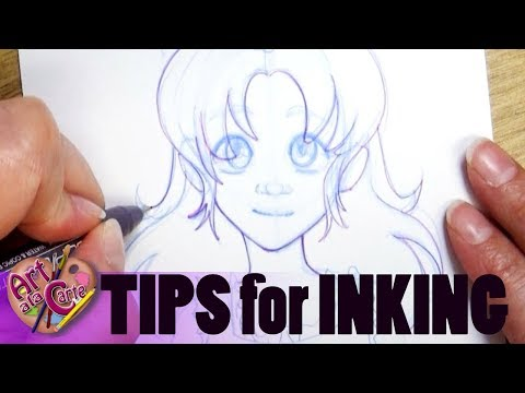 How do I INK in a DRAWING?!  Tips and Tricks