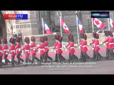 Réveil-FM: Voyage officiel avec Jean-Marc Ayrault à Ottawa au Canada