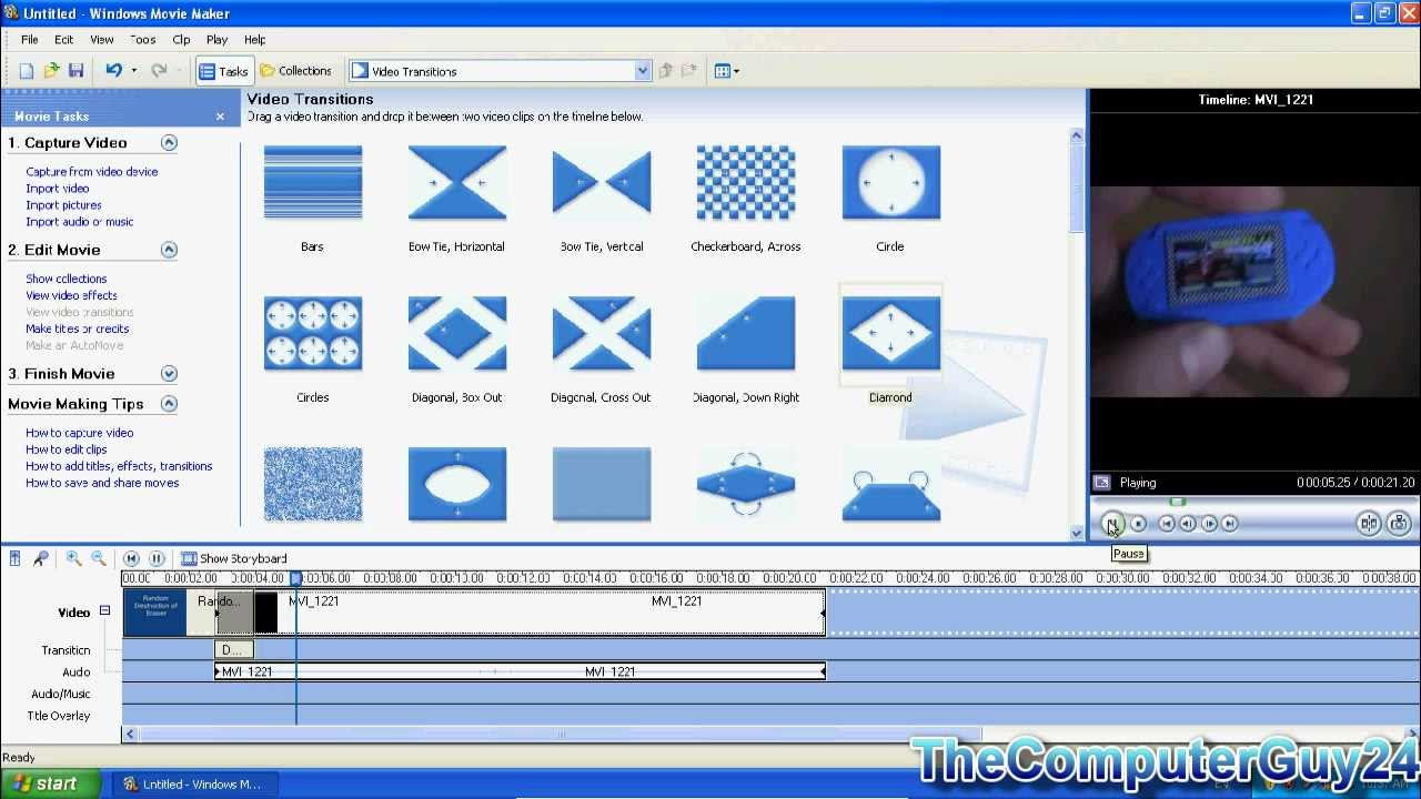 Windows Movie Maker Tutorial for XP - YouTube