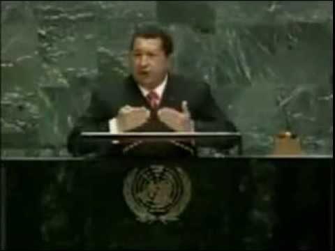 ONU Discurso completo de Hugo Chavez 20 09 2006, Huele a azufre