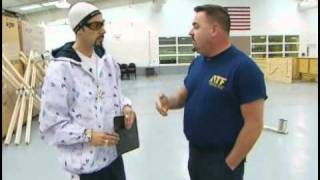 Ali G meets police dogs in training