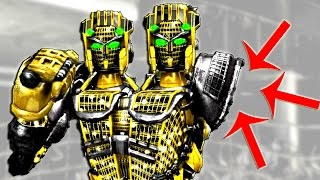 Real Steel Severed Hand - Atom (People's Champion) VS Twin Cities GOLD ROBOTS BOXING (Живая сталь)