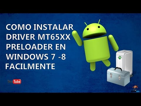 Como Instalar Driver MTK65xx Preloader En Windows 7 - 8