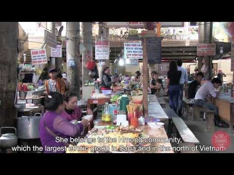 Food Sweet Food in Vietnam : lunch in a Hmong minority (Sapa, north Vietnam)