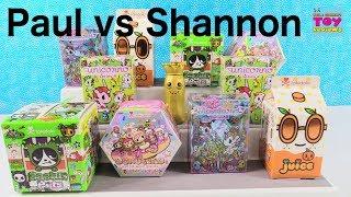 Paul vs Shannon Tokidoki Challenge Cactus Pets Donutella Unicorno Unboxing | PSToyReviews