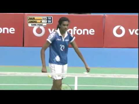 Tine Baun Vs PV Sindhu | Women's Singles | Highlights | 2nd Semifinal | MM Vs AW 2013