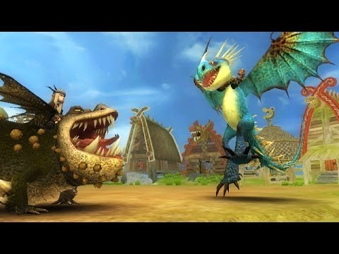 How To Train Your Dragon (PS3. X360) Gameplay Preview - dragon battle and exploring