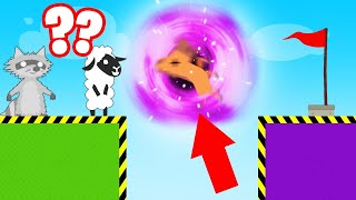 DODGE The BLACK HOLE Or LOSE! (Ultimate Chicken Horse)