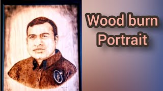 Wood burnt portrait - Kartist