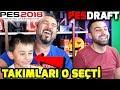 TAKIMLARI OĞLUM SEÇTİ! | PES 2018 PESDRAFT