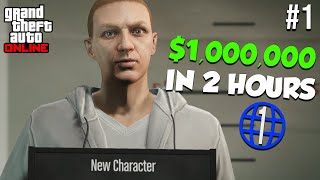 The FASTEST Way to Make $1,000,000 as a Beginner | GTA Online Rags to Riches Episode 1