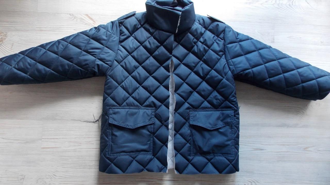 Как сшить стёганую куртку 80