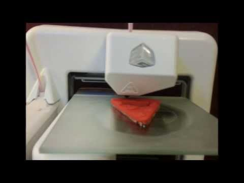 Cube 3D Printer Time Lapse - Pizza Bottle Opener by 3DBK