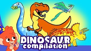 Learn Dinosaurs for Kids | T-Rex Triceratops Cartoon Dinosaur videos | Club Baboo