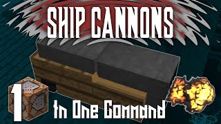 Minecraft - Ship Cannons | One Command