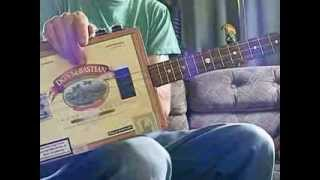 Golden Brown on 3 string cigar box guitar (lesson)