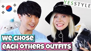 Korean Boy & German Girl Do The Couple Outfit Challenge   Yesstyle