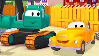 Tom the Tow Truck helps Edgar the Excavator of Car City | Cars & Trucks Cartoons for Kids