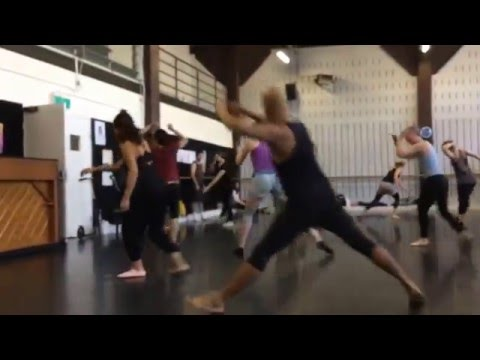 Contemporary Dance Class at Sydney Dance Company