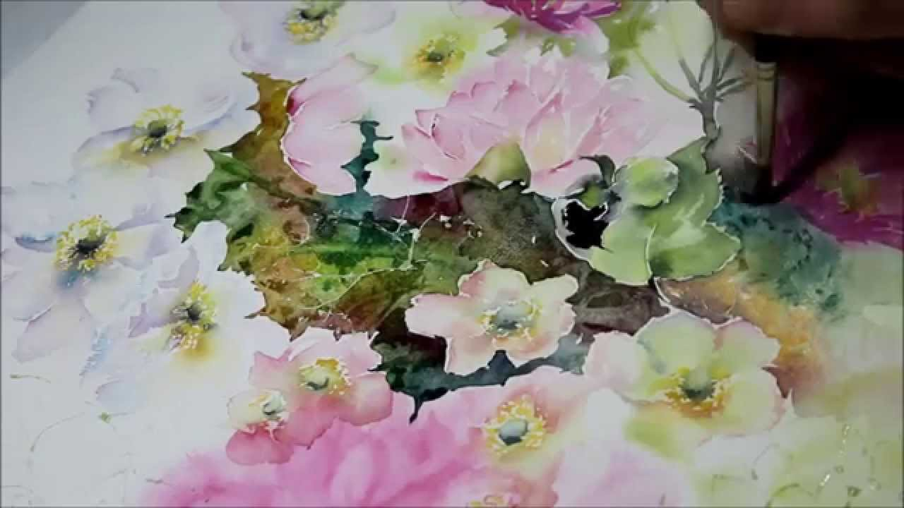 sommerblumen aquarell demonstration teil 6 youtube. Black Bedroom Furniture Sets. Home Design Ideas