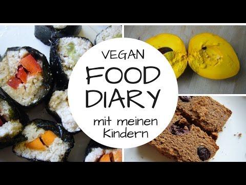 VEGAN FOOD DIARY 4 mit meinen Kindern - Rohkost und Kochkost