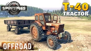 SpinTires T-40 AM Tractor Off-road Test