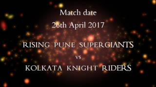 KKR vs RPS    IPL 2017 Prediction    Match 30    Who will win?    26th April 2017