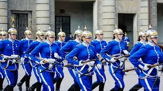 Change of the guard at Stockholm Royal Palace