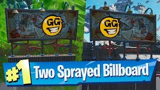 Visit Graffiti Covered Billboards in a single match - Fortnite (Spray & Pray)