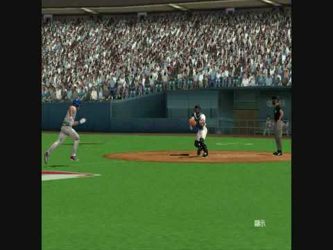 MVP Baseball 2005 Scott Rolen Rod Barajas 5-2-3 Double Play Video