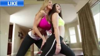 Hot Lesbian Yoga Trainer With Trainee Teen Sexy Yoga Personal Trainer Workout  Sexy Yoga Pants  #6