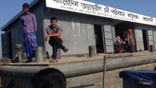 Portable schools for escaping the floods in Bangladesh