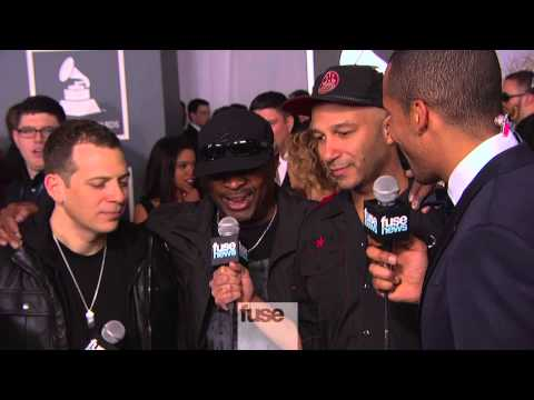 Tom Morello, Z -Trip, Chuck D on Grammy Red Carpet - Grammy Awards 2013