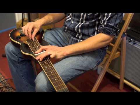Vintage lap steel slide guitar