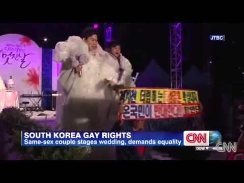 Same-sex Couple Stages Wedding In Korea video